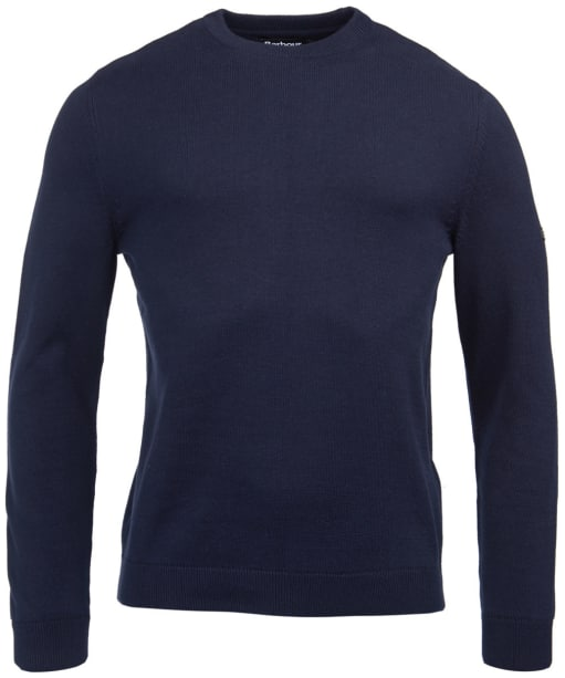 Men's Barbour International Baffle Patch Sweater - Navy