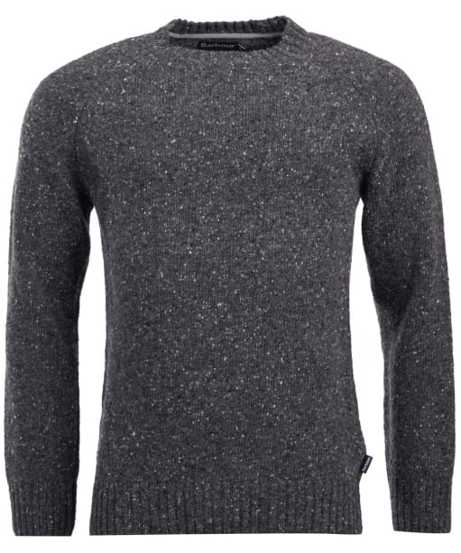 Men's Barbour Netherton Crew Neck Sweater - Charcoal