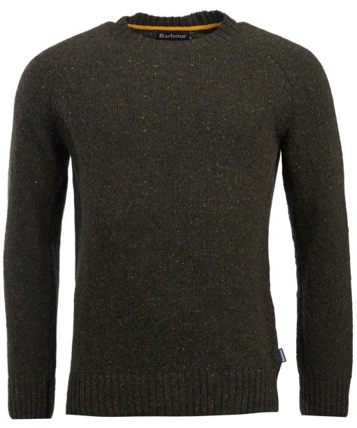 Men's Barbour Netherton Crew Neck Sweater - Forest