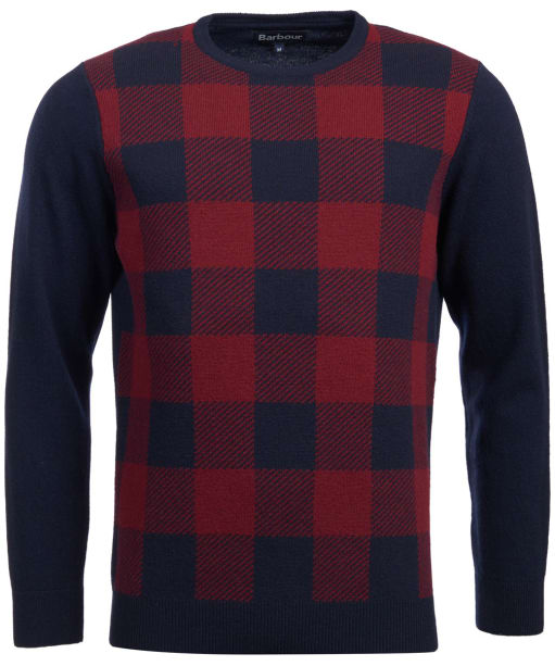Men's Barbour Buffalo Crew Neck Sweater - Navy