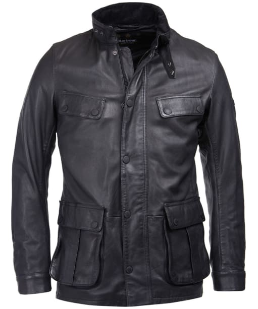 Men's Barbour International Paul Leather Jacket - Black