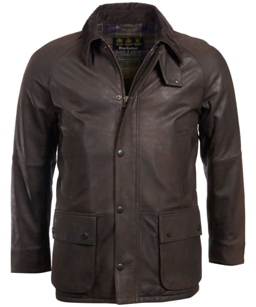 Men's Barbour Ashby Leather Jacket - Brown