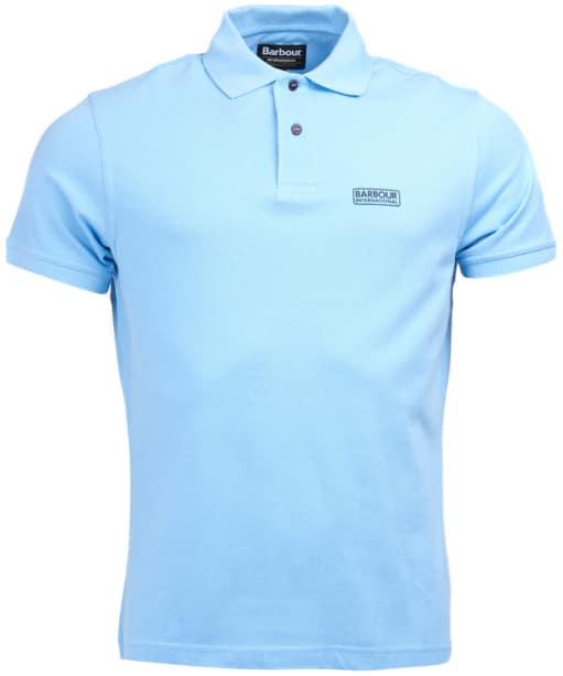 Men's Barbour International Essential Polo - Ice Blue