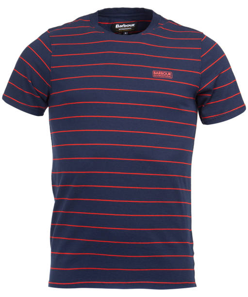 Men's Barbour International Ignition Striped Tee - Navy