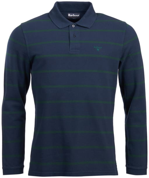 Men's Barbour Lineout Striped Polo Shirt - Navy