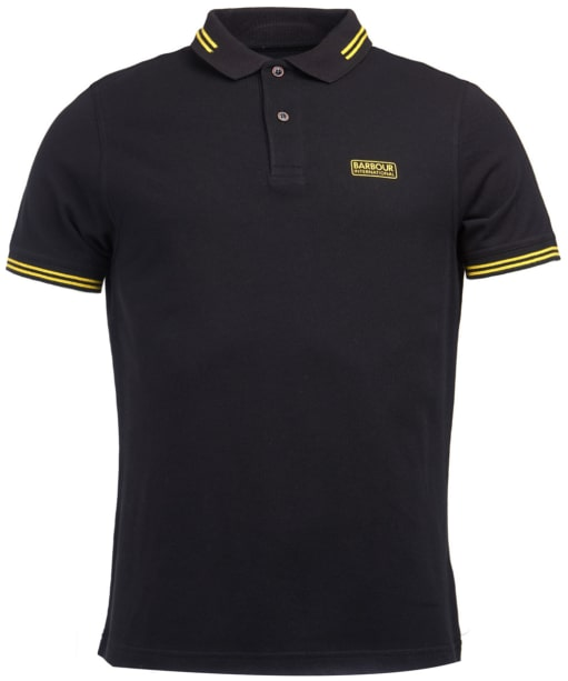 Men's Barbour International Essential Tipped Polo Shirt - Black