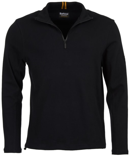 Men's Barbour International Pillar Half Zip Sweatshirt - Black