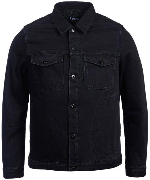 Men's Barbour International Nimbus Denim Jacket - Black