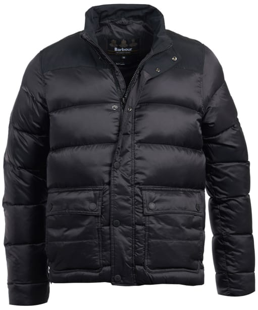 Men's Barbour International Tuck Quilted Jacket - Black