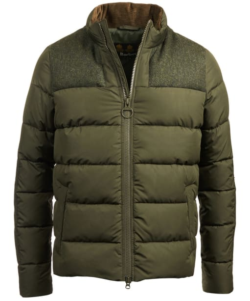 Men's Barbour Dhow Quilted Jacket - Dark Green