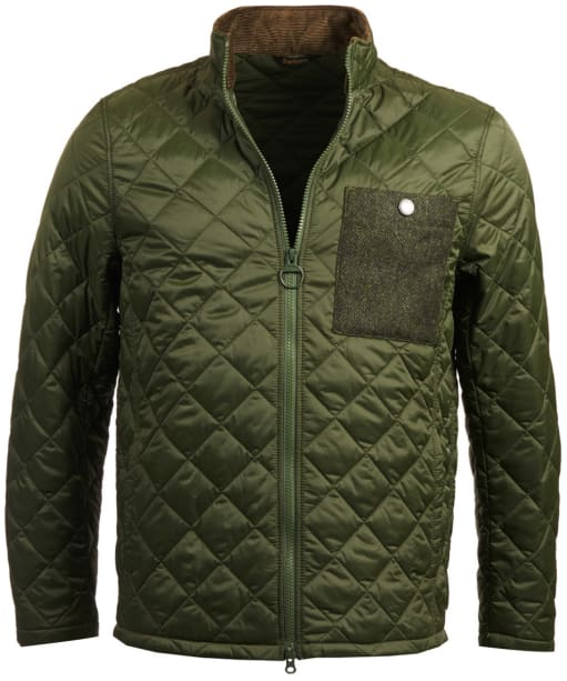 Men's Barbour Abaft Quilted Jacket - Duffle Green