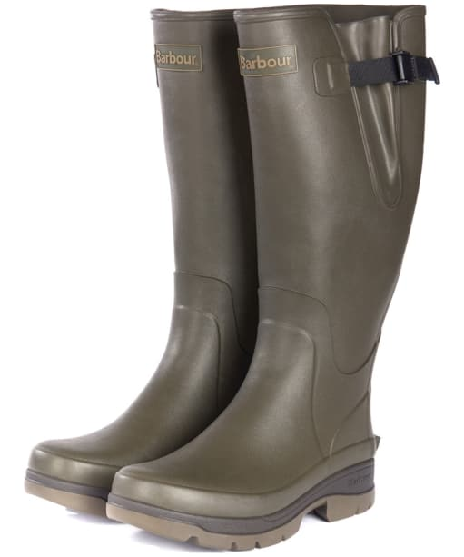 Men's Barbour Hail Wellington Boots - Olive