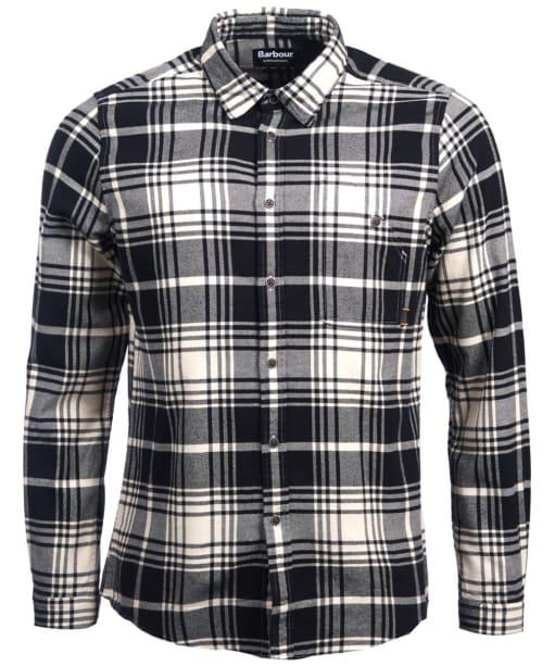 Men's Barbour International Tuner Shirt - Ecru Check