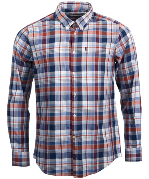 Men's Barbour Stapleton Country Check Shirt - White
