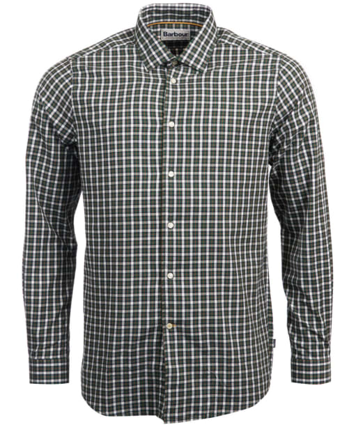 Men's Barbour Highfield Micro Check Shirt - Racing Green