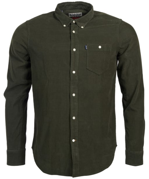 Men's Barbour Ashwood Cord Shirt - Forest