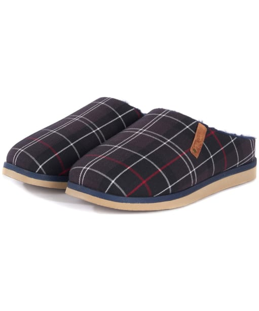 Men's Barbour Hughes Slippers - Navy Tartan