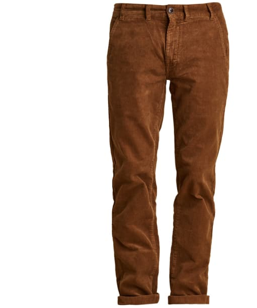Men's Barbour Neuston Stretch Cord Trousers - Dark Honey