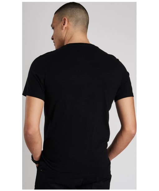 Men's Barbour International Cap Crew Neck T-Shirt - Black