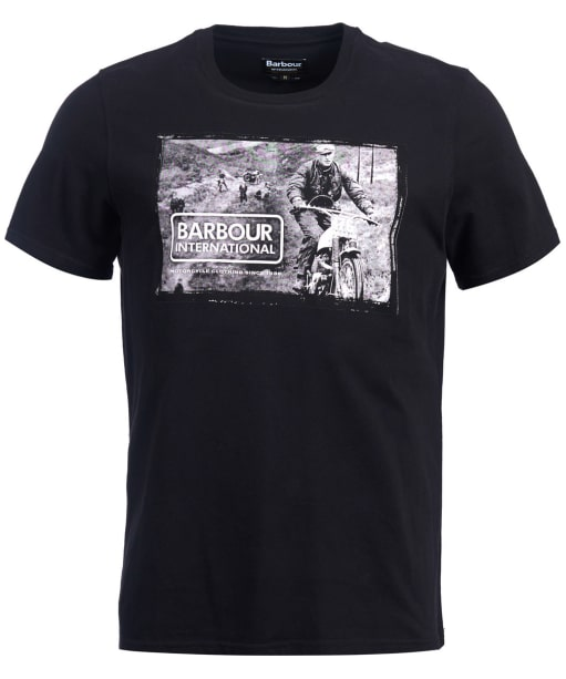Men's Barbour International Retainer Tee - Black