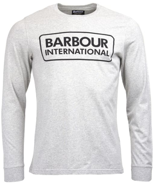 Men's Barbour International Large Logo Tee - Grey