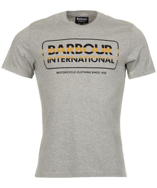 Men's Barbour International Motor Tee - Grey Marl
