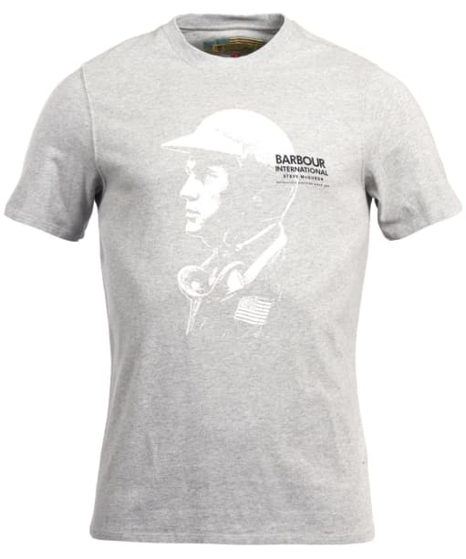 Men's Barbour Steve McQueen Carburetor Tee - Grey Marl