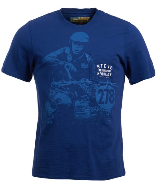 Men's Barbour Steve McQueen Auto Tee - Inky Blue