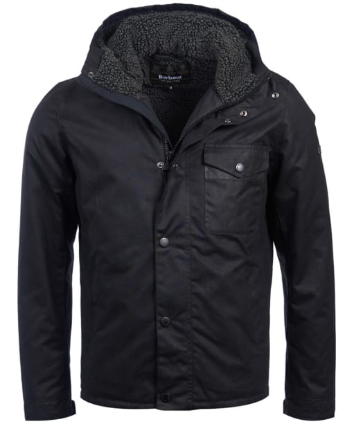 Men's Barbour International Kevlar Waxed Jacket - Black