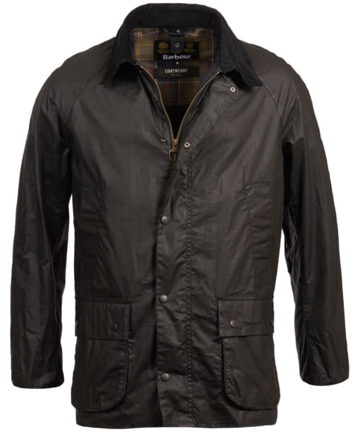 Men's Barbour Lightweight Ashby Waxed Jacket - Black