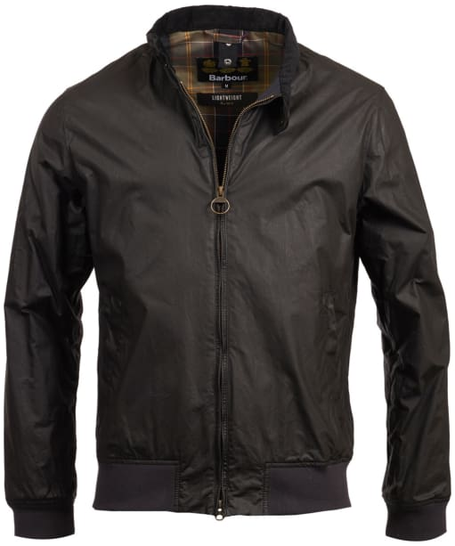 Men's Barbour Lightweight Royston Waxed Jacket - Black