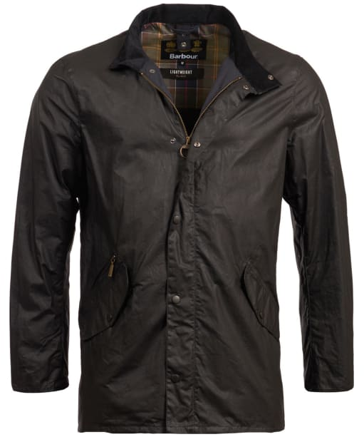 Men's Barbour Lightweight Prestbury Waxed Jacket - Black