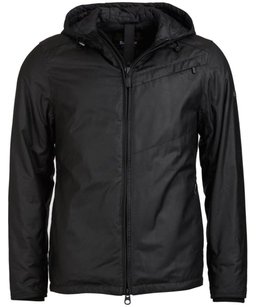 Men's Barbour International Shift Waxed Jacket - Black