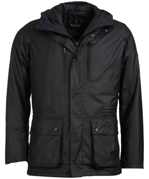 Men's Barbour International Tour Wax Jacket - Black