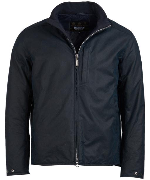 Men's Barbour International Darley Waxed Jacket - Navy