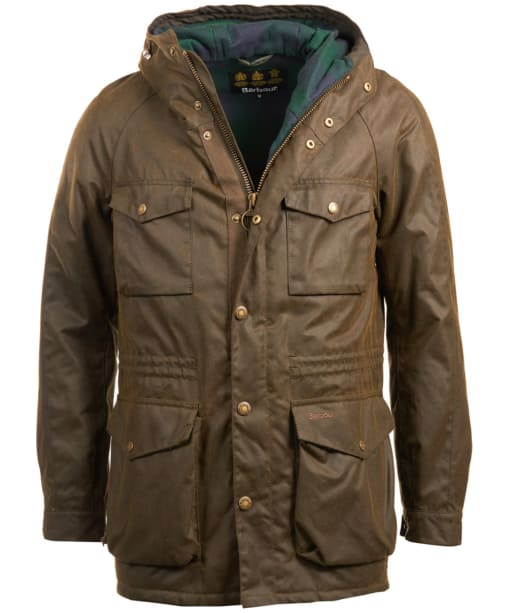 Men's Barbour Coll Waxed Jacket - Olive