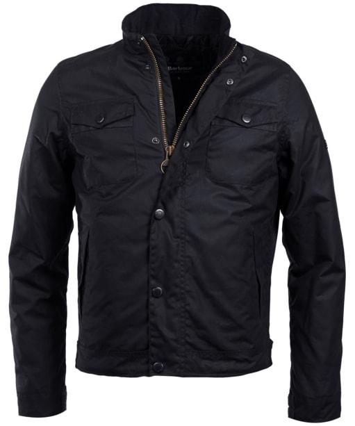 Men's Barbour International Hatch Waxed Jacket - Black