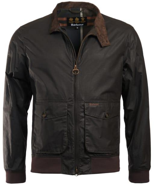 Men's Barbour Hagart Waxed Jacket - Dark Olive