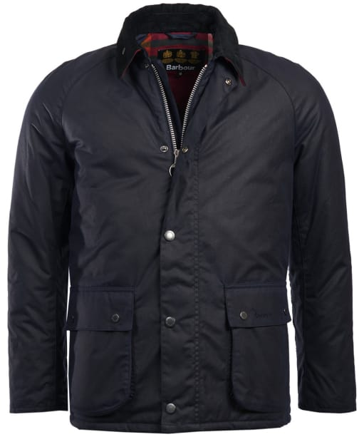 Men's Barbour Strathyre Waxed Jacket - Royal Navy