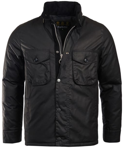 Men's Barbour Netherley Waxed Jacket - Black