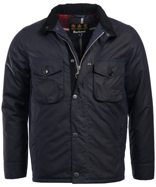 Men's Barbour Netherley Waxed Jacket - Royal Navy