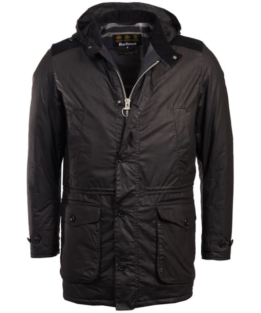 Men's Barbour Crieff Waxed Jacket - Black