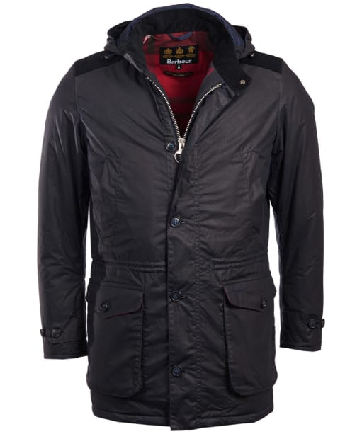 Men's Barbour Crieff Waxed Jacket - Navy