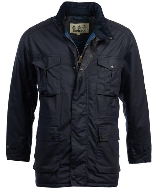 Men's Barbour Newcastle Wax Jacket - Navy