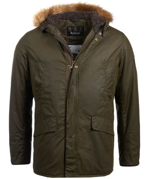 Men's Barbour Steve McQueen Sub Wax Jacket - Archive Olive