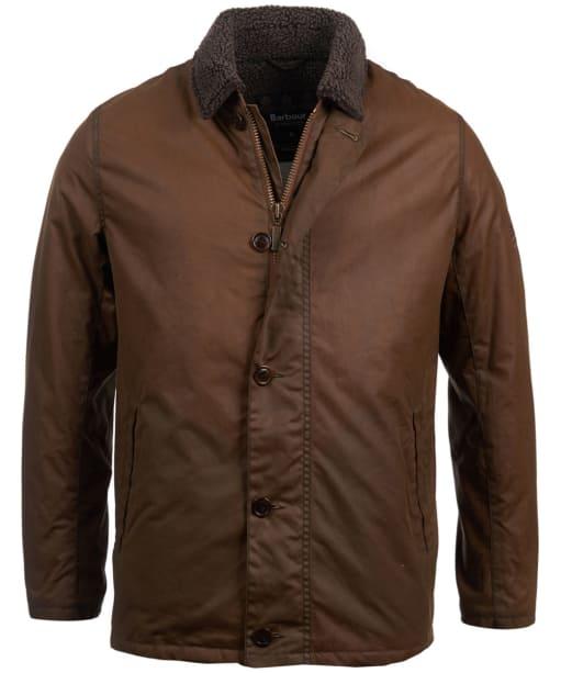 Men's Barbour Steve McQueen Havasu Wax Jacket - Dark Sand