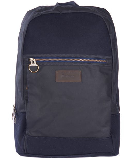 Barbour Nautical Waxed Backpack - Navy