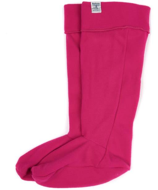 Barbour Fleece Wellington Socks - Fuchsia