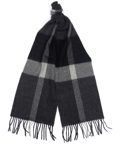 Barbour Oakwell Lambswool Scarf - Grey / Black