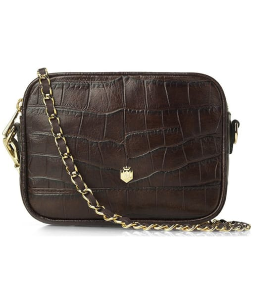 Fairfax & Favor The Madison Croc Print Leather Bag - Brown Croc